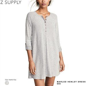 NWOT: Z Supply - The Marled Henley Dress (GREY)